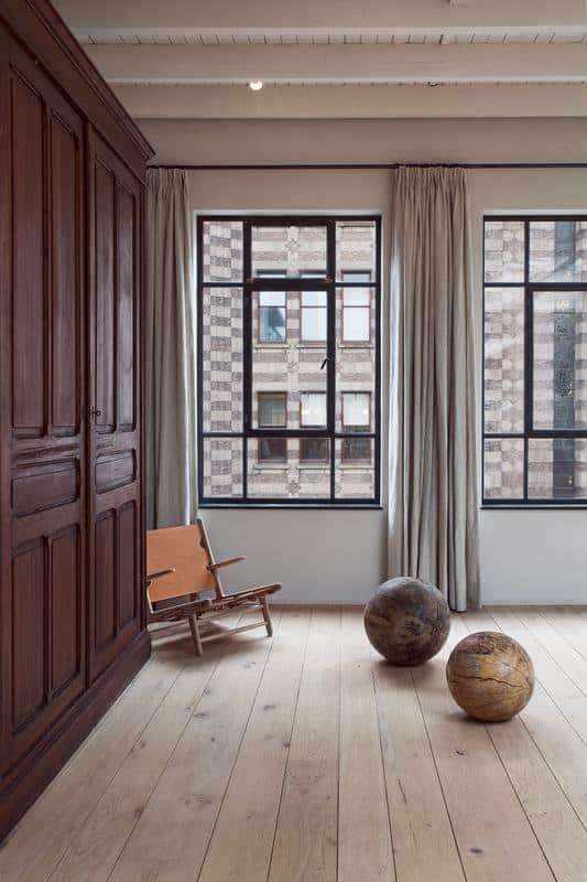 linnen gordijnen op maat 3 bij enter the loft amsterdam