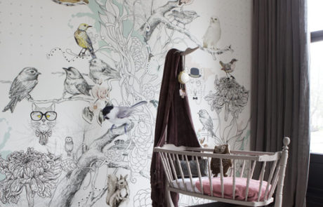 Grove linnen gordijnen in de kinderkamer - semi-transparant