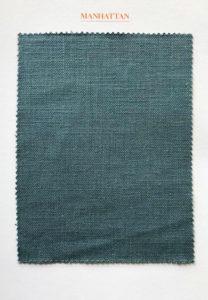 Staal met linnen stof Manhattan: North Sea Blue