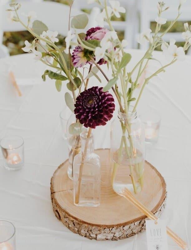 Linnen tafel aankleding bloemen