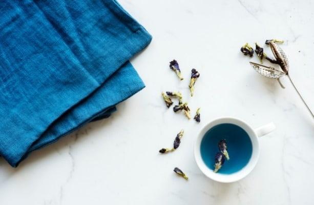 Blauw linnen - slow living