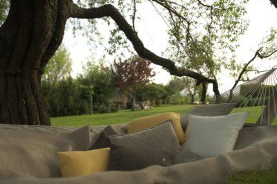 Hangmat met linnen kussen - La Saracina