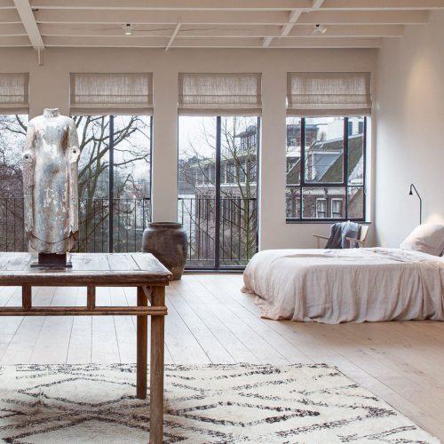 Vouwgordijnen in De Loft gemaakt van Manhattan Natural