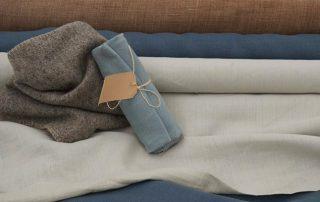 Linnen rollen met een wollen doek