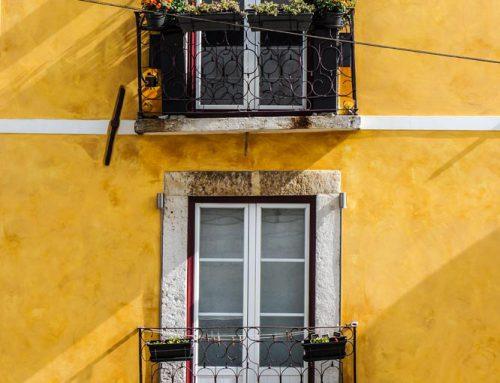 De kleur geel in huis