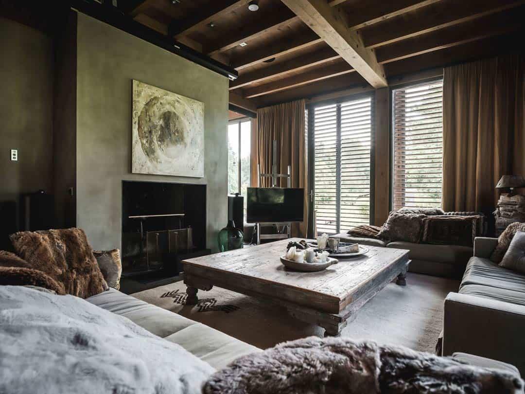 Huiskamer met Kensington Antilope hanggordijnen